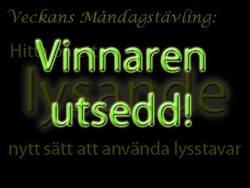 Vinnaren av tävlingen med Glowsticks.se