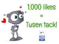 1.000 följare på vår Facebook-sida!