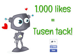 Vår Facebook-sida med presenttips har nu 1000 följare