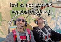 Test av upplevelsen Aerobaticflygning / akrobatflyg