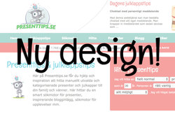 Ny design på Presenttips.se