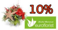 10% rabatt på blommor man kan skicka