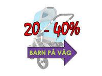 Upp till 40% rabatt på barnvagnar
