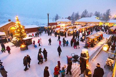 Foto från Julmarknad vid Falu gruva