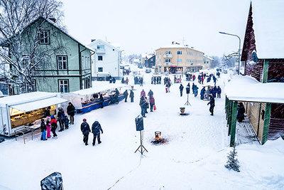 Foto från Jokkmokks julmarknad och kulturfestival