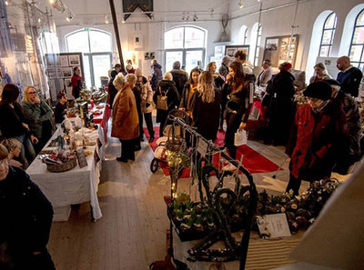 Foto från Borstahusdagen Vinter minijulmarknad i Pumphuset