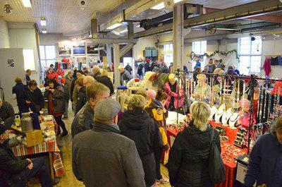 Foto från Julmarknad på Frövifors Pappersbruksmuseum