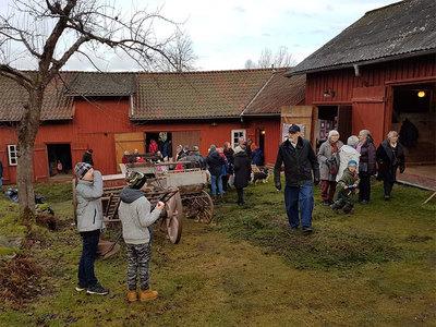 Foto från Julmarknad på Börjesgården