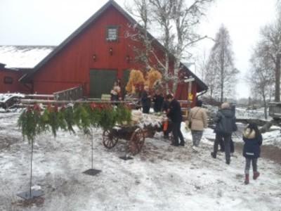 Foto från Julmarknad på Sägnernas hus