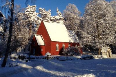 Foto från Gammaldags julmarknad på Borås museum