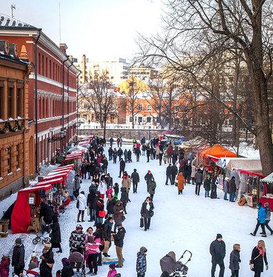 Foto från Julmarknaden vid Gamla Stortorget