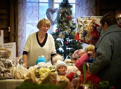 Foto från Julmarknad på Ralph Lundstengården