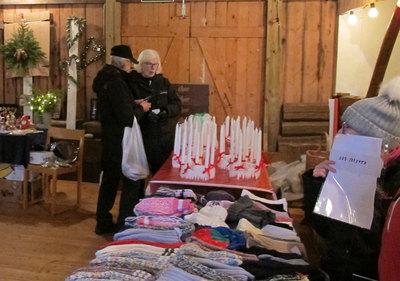 Foto från Julmarknad på Knutsbolshembygdsgård