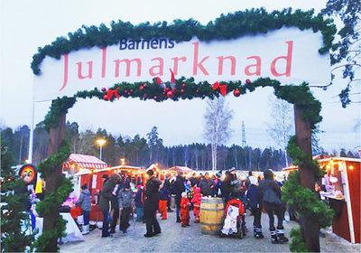 Foto från Barnens Julmarknad i Järvastaden
