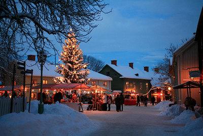 Foto från Gamla Linköpings julmarknad