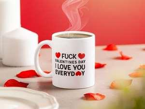 fuck valentines day mugg