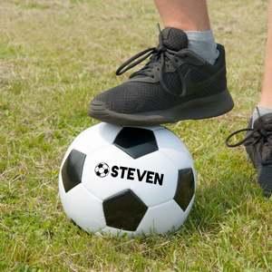 Fotboll med valfritt ord/namn på