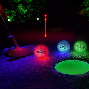 Självlysande golfboll