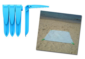 Beach towel clips