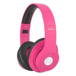 rosa hörlurar med båge