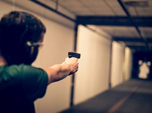 Prova på pistolskytte