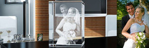 Tredimensionella foton i glas