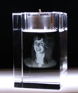 ljushållare i kristall