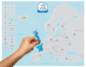 Scratch map europe