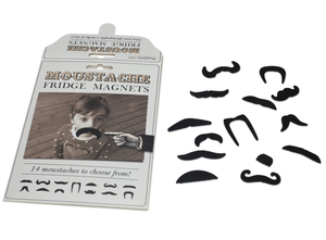 Kylskåpsmagneter: mustascher
