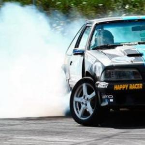 Testa drifting (bakom ratten)