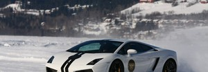 lamborghini på is i Åre