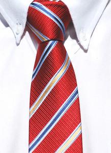 snygg, röd, bred slips