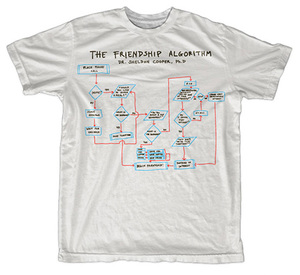 "T-shirt: ""Friendship Algorithm"""