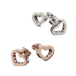 Hjärtformade örhängen från Edblad