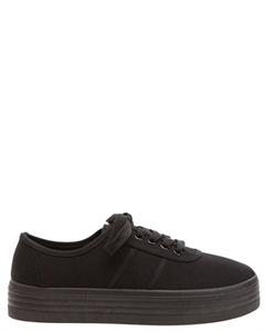 Sneakers i tyg