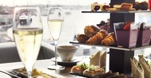 Afternoon tea för två med champagne
