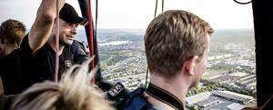 Flyg luftballong för två