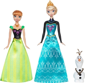 Dockorna Elsa, Anna och Olof i ett paket