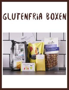 Glutenfria snacks direkt hem till dörren