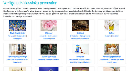 Ett nytt sätt att leta presenter på Presenttips.se